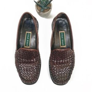 Cole Haan Vintage Woven Brown Loafer | 6.5